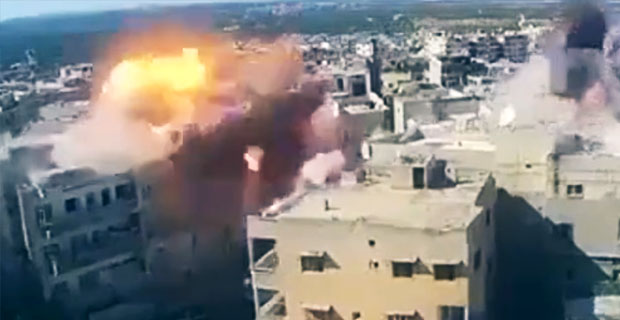 Atak lotniczy w Syrii