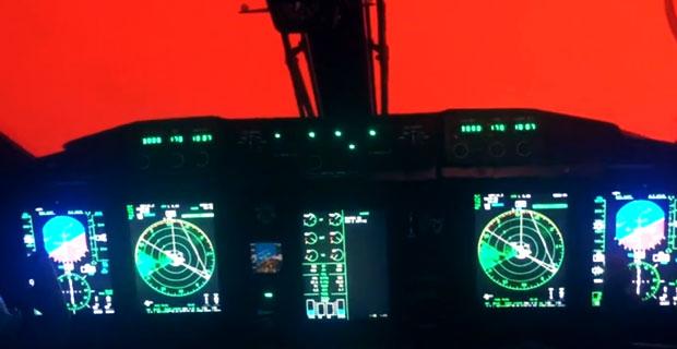 W kokpicie samolotu nad pożarem lasu